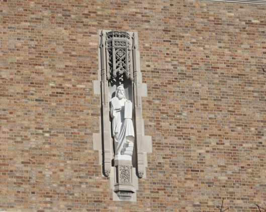 Moses on ND Law School Building